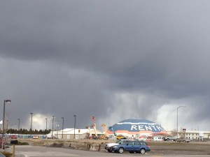 Scary storm north of Rexburg