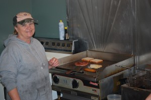 Patche's cooking up the baloney sandwich