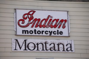 Indian Motorcycle Sign - Rudyard, Montana (Mike from American Pickers would love it!)