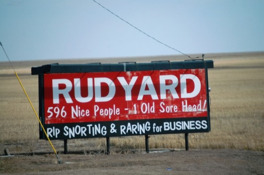 Rudyard Welcome Sign