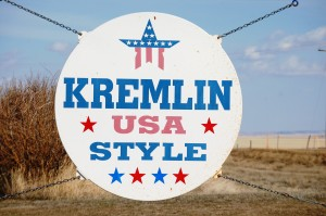 Welcome to Kremlin sign