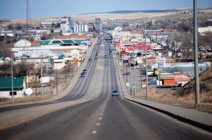 """The """"Main Drag"""" in Havre. US Hwy 2 runs right through the middle of town."""
