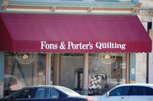 Fon's and Porters Quilt Shop - Winterset, Iowa