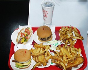 Burgers and fries and goodies at Hutch's on the Beach
