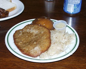 Weiner Schnitzel Dinner at Olde Heidelberg