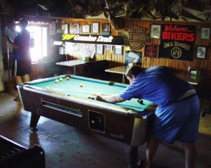 Pool tables in the Saloon