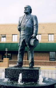 James J. Hill Statue in front of Amtrak station in Havre