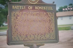 Battle of Bonesteel Commenmorative Sign