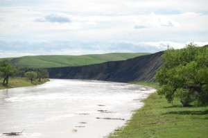 White River as seen from SD 63 south of Belvidere, SD