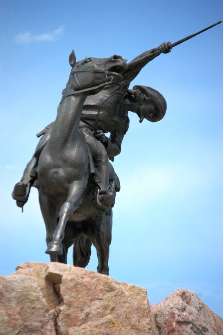 Alternate view of the The Scout - Buffalo Bill statue
