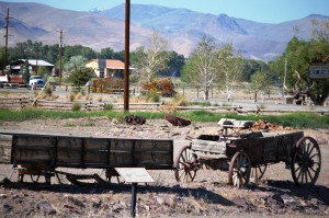 Old wagons seen near Challis,ID