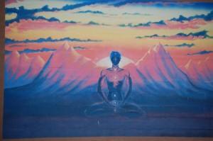 A mystic mural in Oak Creek, CO