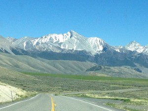 Driving towards Mt. Borah, Idaho's highest peak