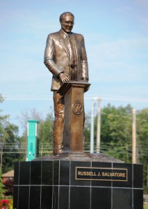 Russell J. Salvatore Statue in Williamsville's Patriots and Heroes Park