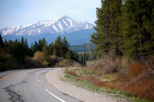 Mt. Massive (14,421 feet) as seen heading south on US 24 towards Leadville.