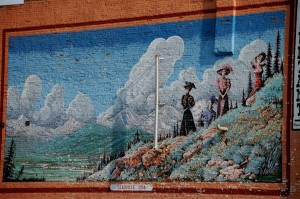 Large wall mural in Leadville, Colorado