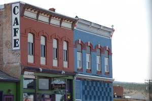 Colorful building facades in Leadville