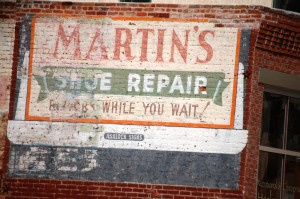 Martin's Show Repair wall ad - Salida, Colorado