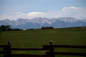 Mountains as seen from near Maytag Ranch on CO Hwy 69