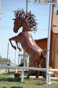 Large Metal Horse in Clayton, New Mexico