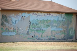 Mural in Four Way, Texas