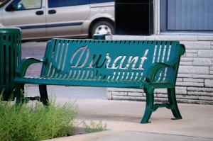 Bench in Durant, Oklahoma