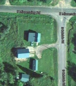 Satellite shot of JFK's place. The big building on the left covers his 19,000 pound twineball