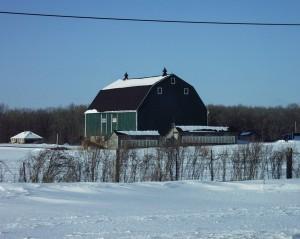 Winter scene in rural Oxford County, Ontario