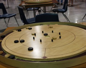 Crokinole Board from World Championships in Tavistock, Ontario