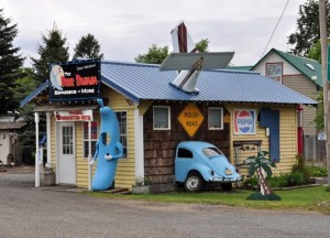Blue Banana Espesso Bar in Lostine, Oregon