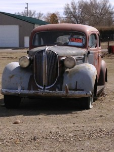 Old car in Chester, Montana