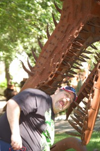 Dragon Biting my head off - Jurustic Park - Marshfield, Wisconsin