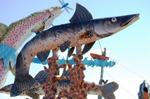 Giant Scrap Metal Fish - by Gary Greff, on Enchanted Highway in North Dakota