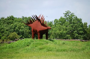 Big Scrap Metal Stegosaurus - Texas Pipe Company - Houston, Texas