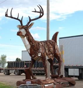 """""""Scrappy"""" the Scrap Metal Buck by Brett Prang - Kadoka, South Dakota"""