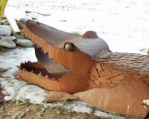 Scrap Metal Alligator - Harrietsville, Ontario