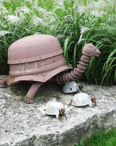 Scrap Metal Turtle - near Mt. Horeb, Wisconsin