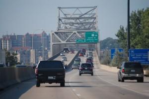 Murray Baker Bridge crossing over the Illinois River