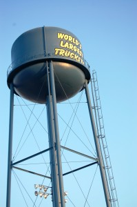 Iowa 80 Truckstop is so big it has its own water tower