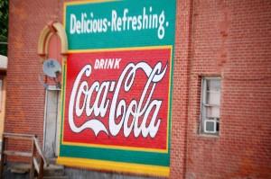Old-style Coca Cola Wall Advertisement  - Nebraska City, NE