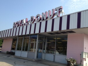 Royal Donut in Danville, IL.  Great prices and old fashioned goodness