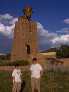 Abe Lincoln Monument near Laramie, Wyoming 1999