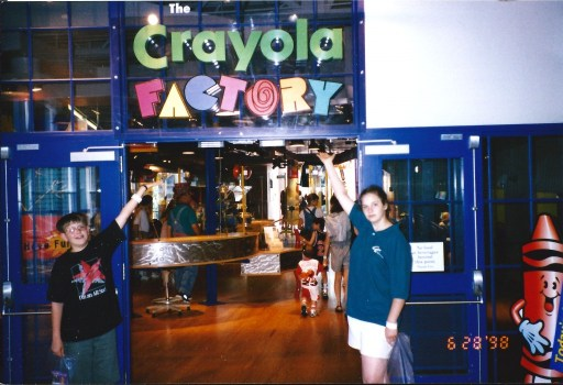 Amaree and Seth at the Crayola Factory in Easton, PA