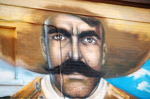 Close up of a Tom Selleck-esque Bandito