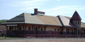 Wide view of Council Bluffs Station