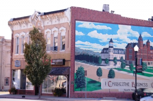 Chillicothe Business College as seen with building