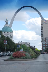 Arch as seen from Downtown