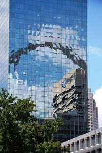 Arch Reflection on a mirrored Building