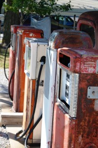 Vintage Gas Pumps at Ra66it Ranch