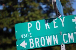 Slow Down - Its Pokey Road - near Pochahontas, IL